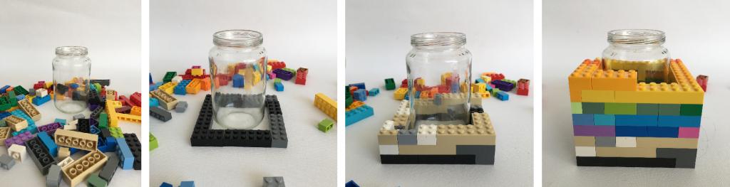 stappen plan lego vaasje maken.