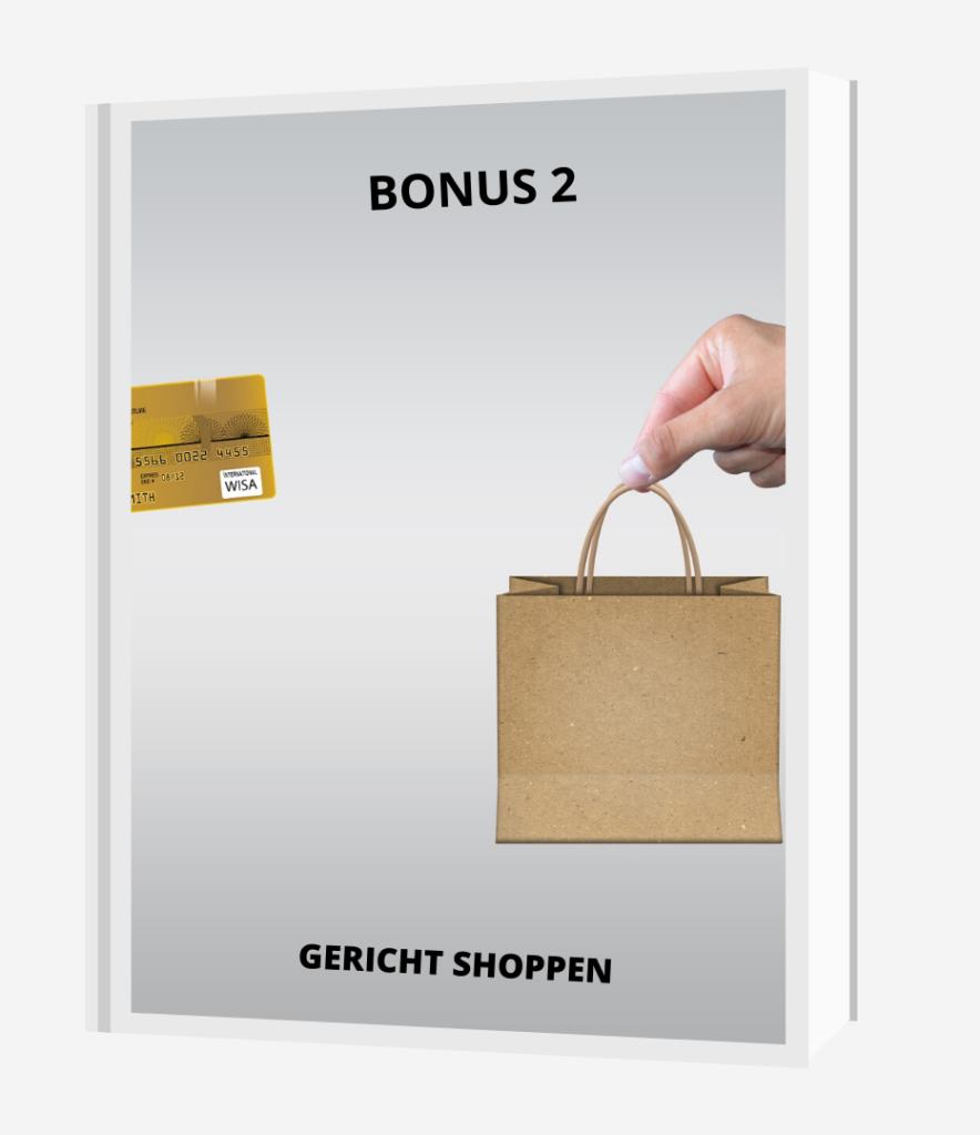 Bonus 2 gericht shoppen