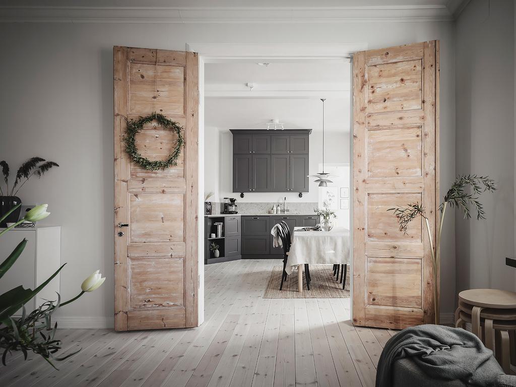 dubbele deuren onbehandeld hout