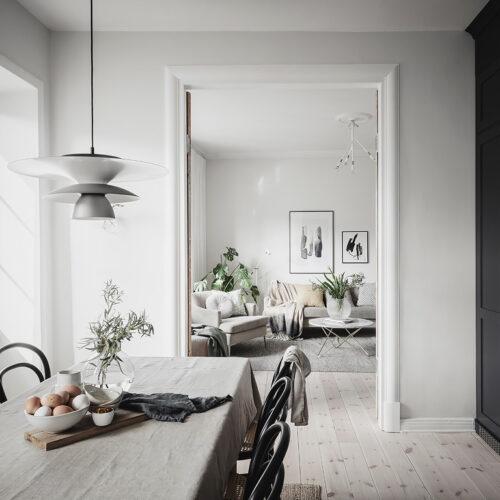 keuken doorkijkje woonkamer