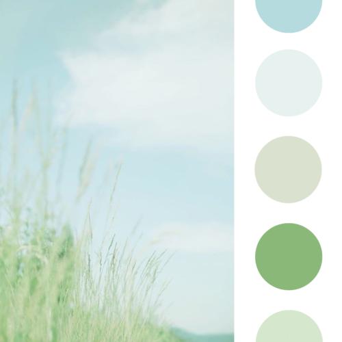 kleurencombinatie groen en blauw
